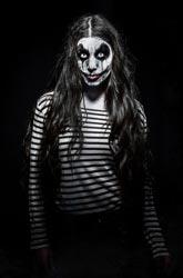 Geschminktes Gesicht Halloween