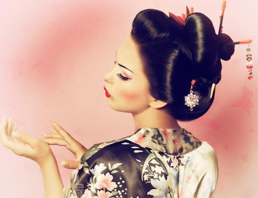 Ausgefallene Geisha Faschingskostüm