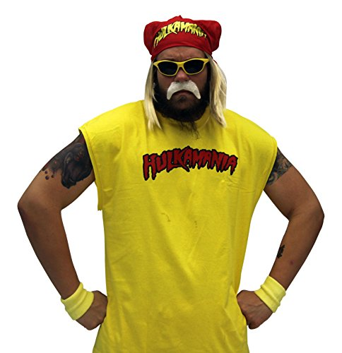 Hulk-Hogan-Hulkamania-Complete-Kostm-Set-Gelb-SunglassesRot-Bandana-0