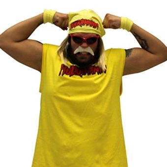 Hulk-Hogan-Hulkamania-Complete-Kostm-Set-Rot-SunglassesGelb-Bandana-0