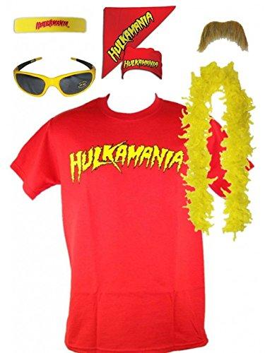 Kostm-Hulk-Hogan-Hulkamania-Rot-Retro-Bis-5XL-0