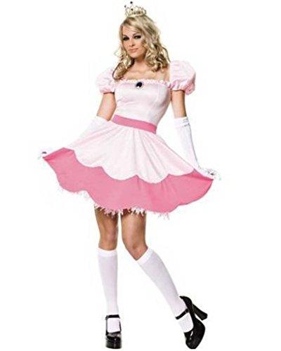 Minetom-Damen-Cosplay-Kostm-Kleid-Prinzessin-Peach-Outfit ...
