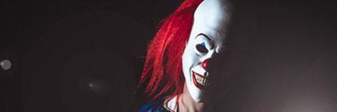 Unerkannter Horror Clown