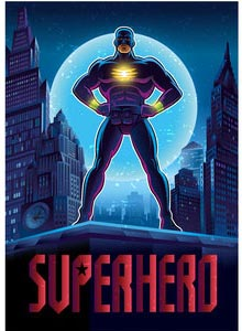 Poster mit Superheld