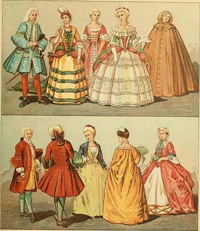 Barock Kostüme in den Werken zur Geschichte des Kostüms