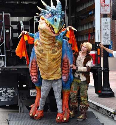 Drachenkostüm bei der Comic Con