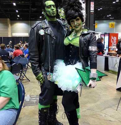 Frankenstein Kostüm und Frankensteins Braut Kostüm