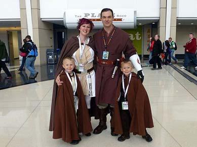 Jedi Kostüm Familie