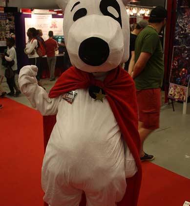 Weißer Hund Maskottchen Kostüm