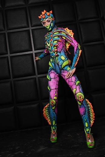 Buntes Alien Kostüm