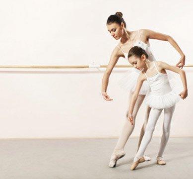 Ballerina Kostüm bei Übung