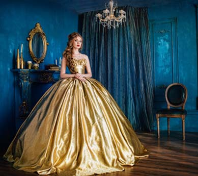 Belle Kostüm in mittelalterlichem Stil