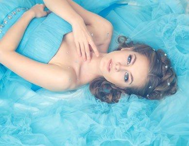 Cinderella Kostüm mit hellblauem Kleid