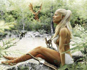 Fantasy Kostüme im Wald