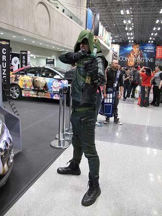 Green Arrow Kostüm 2014 bei der New York Comic Con