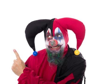 Hofnarr Kostüm mit langem Bart