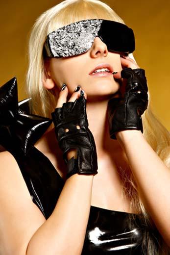 Lady Gaga Kostüm mit Sonnenbrille