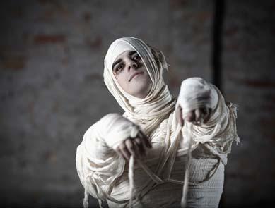 Mumie Kostüm an Halloween