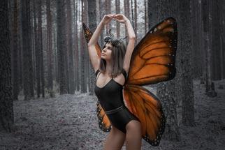 Schmetterling Kostüm im Wald
