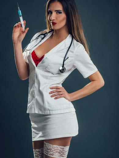 Sexy Kostüm einer Krankenschwester