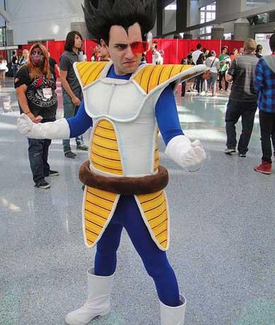 Vegeta Son Goku Kostüm bei der Comic Con