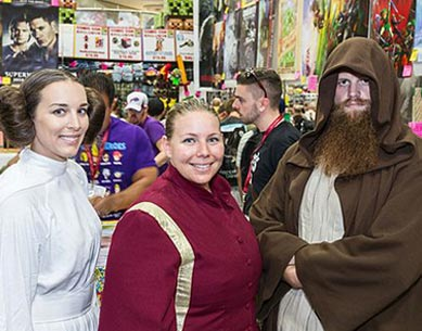Star Wars Cosplays bei einer Convention