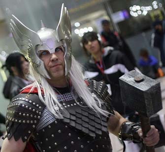 Thor Kostüm bei der NYC Comic Con 2009