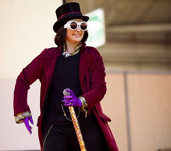 Willy Wonka Kostüm bei Paris Manga 10
